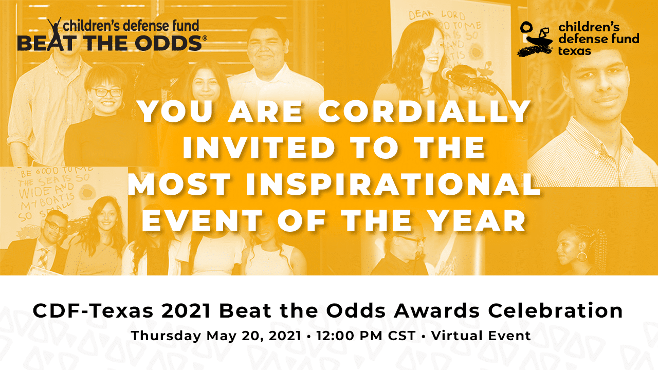 Image promoting the 2021 Beat the Odds Awards Celebration. Click the image to purchase a seat.